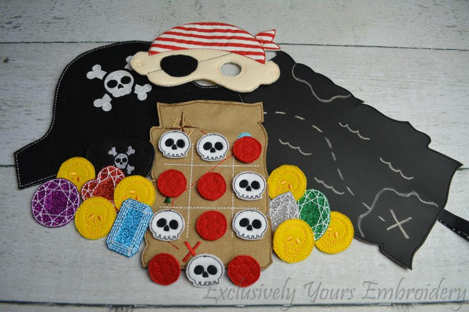 Pirate Birthday Set Exclusively Yours Embroidery