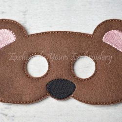 Bear Childrens Felt Mask
