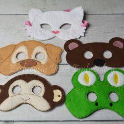 Animal Childrens Felt Mask Set