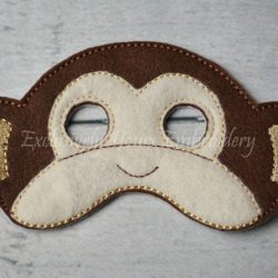 Monkey Childrens Felt Mask