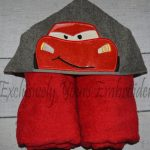 Racing Car Hooded Towel
