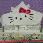 3D Kitty Hooded Towel