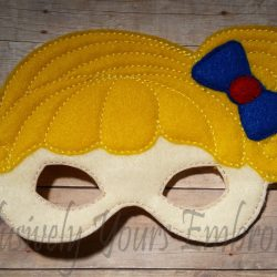 Rainbow Brite Inspired Childrens Felt Mask