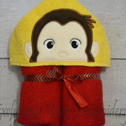Curious Monkey Hooded Towel