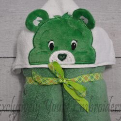 Good Luck Bear Hooded Towel