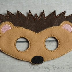 Hedgehog Childrens Felt Mask