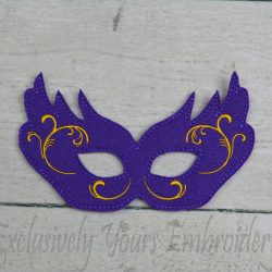 Purple Gold Mardi Gras Mask