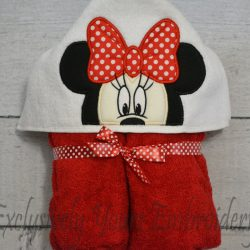 Mrs Mouse Hooded Towel