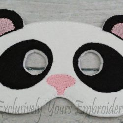 Panda Childrens Felt Mask