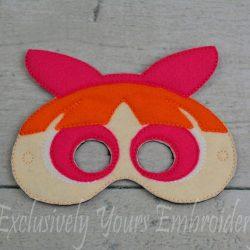 Blossom Power Puff Girl Inspired Mask