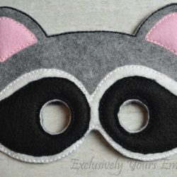 Raccoon Childrens Felt Mask