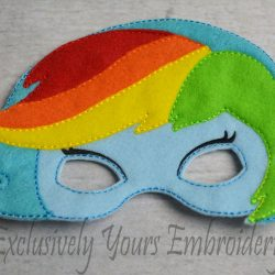 Rainbow Dash Inspired Childrens Mask