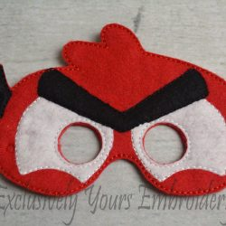 Red Bird Childrens Felt Mask