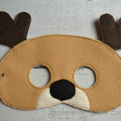 Reindeer Childrens Felt Mask