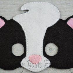 Skunk Childrens Felt Mask