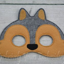 Squirrel Childrens Felt Mask