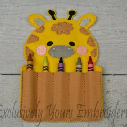 Giraffe Crayon Holder