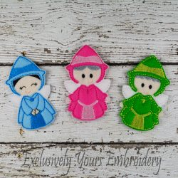 Fairy Godmother Trio Finger Puppet Set