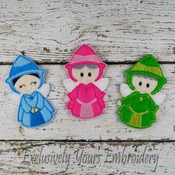 Fairy Godmother Trio Finger Puppet Set
