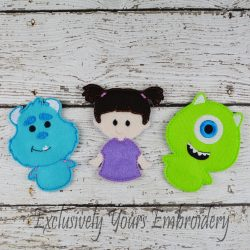 Monster Trio Finger Puppets Set