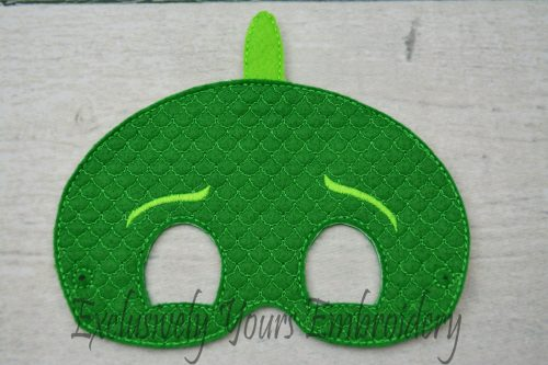Green Gecko Childrens Felt Mask