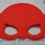 Red Owl Childrens Felt Mask