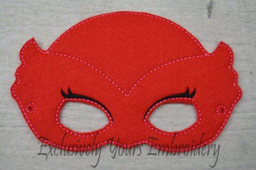 Red Owl Childrens Felt Mask