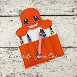 Charmander Inspired Crayon Holder