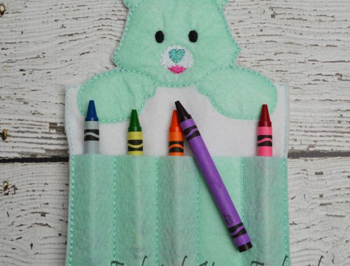 Good Luck Bear Inspired Crayon Holder