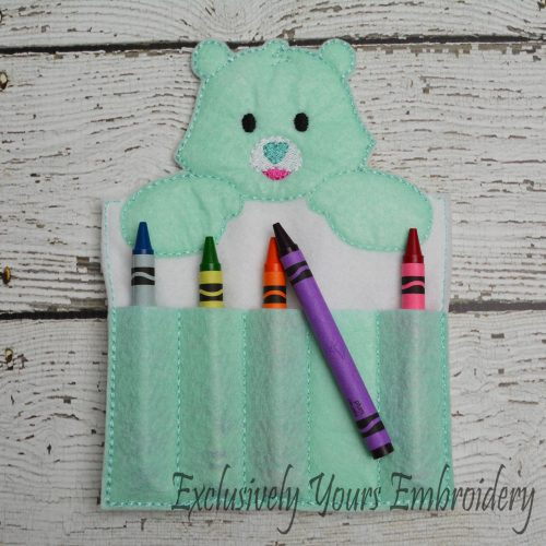 Good Luck Bear Inspired Crayon Holder