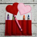 Double Heart Crayon Holder