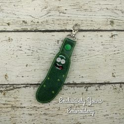 Pickle Rick inspired keychain
