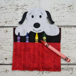 Snoopy Inspired Crayon Holder