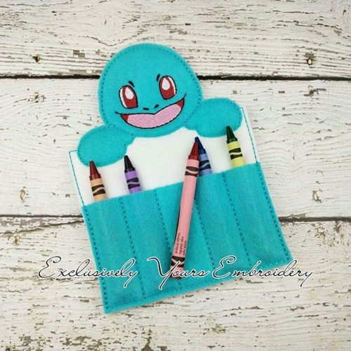 Squirtle Inspired Crayon Holder