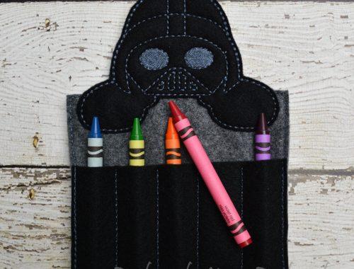 Vader Inspired Crayon Holder