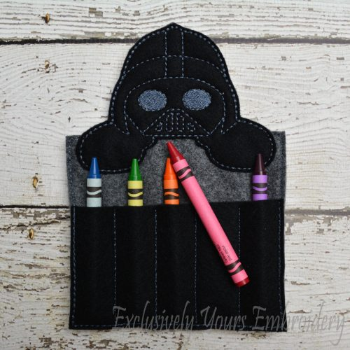 Vader Inspired Crayon Holder