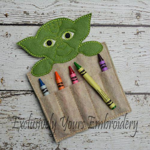 Yoda Inspired Crayon Holder