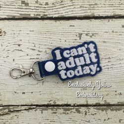 Can't Adult Keychain