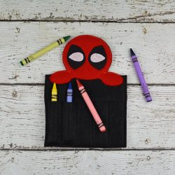 Deadpool Inspired Crayon Holder