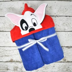 Patch Hooded Towel