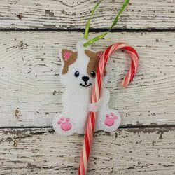 Cat Cane Holder Ornament
