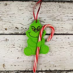 Grinch Cane Holder Ornament