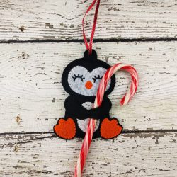 Penguin Cane Holder Ornament