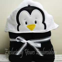 Penguin Hooded Towel