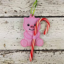Pig Cane Holder Ornament