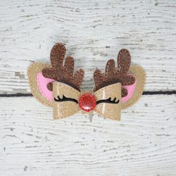 Reindeer Bow Hair Accessory