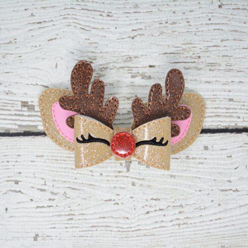 Reindeer Bow Hair Accessory