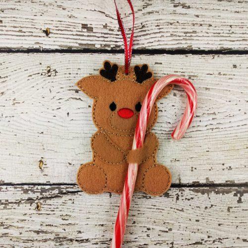 Reindeer Cane Holder Ornament