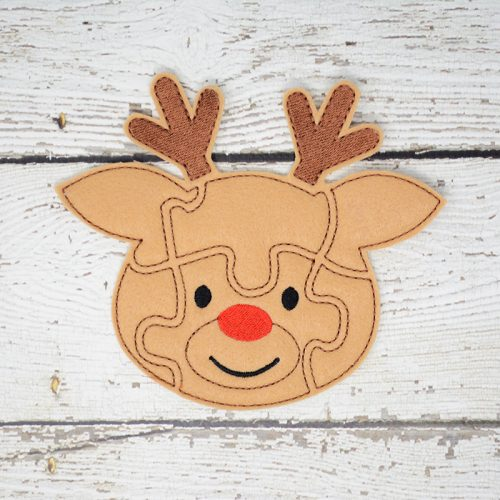 Rudolph Puzzle with Storage Pouch