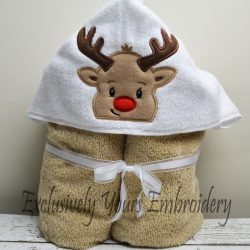 Reindeer Hooded Towel